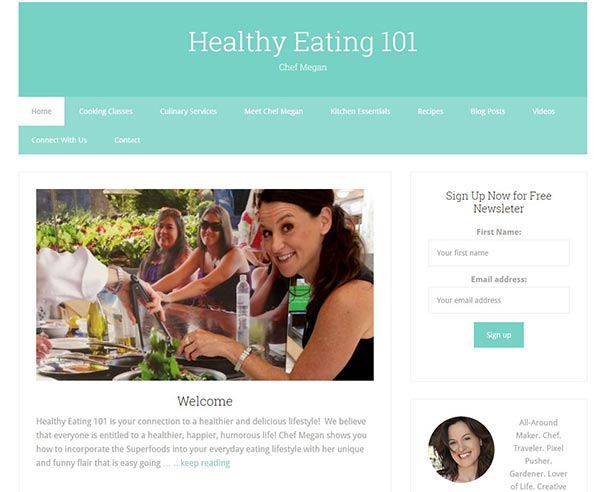 Healthyeating101.com a WordPress site