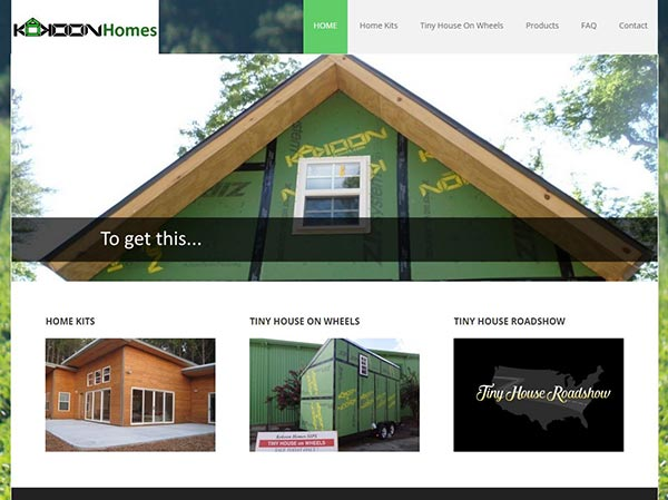 Kokoonhomes website -