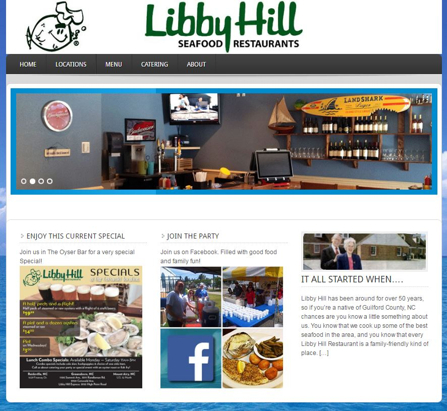 Libby Hill restaurant website